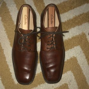 Brown Calvin Klein men's dress shoes 11.5